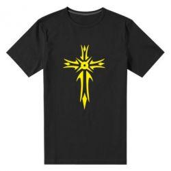 Мужская стрейчевая футболка Крест 2 - FatLine
