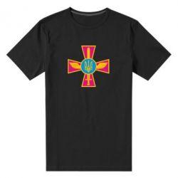 Мужская стрейчевая футболка Крест з мечем та гербом - FatLine