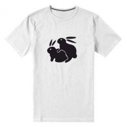 Мужская стрейчевая футболка Кролики - FatLine