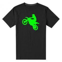 Мужская стрейчевая футболка Кроссовый мотоцикл - FatLine