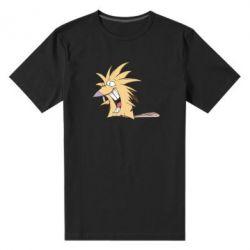 Мужская стрейчевая футболка Крутые бобры - FatLine