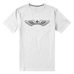 Мужская стрейчевая футболка Крылья десанта - FatLine