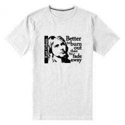 Мужская стрейчевая футболка Kurt Cobain - FatLine