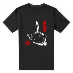 Мужская стрейчевая футболка Kyokushin Kanku logo - FatLine