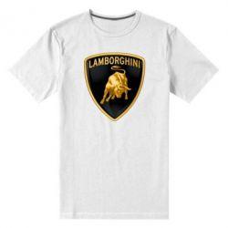 Мужская стрейчевая футболка Lamborghini Logo - FatLine