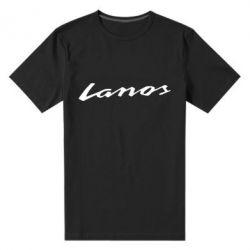 Мужская стрейчевая футболка Lanos Logo - FatLine
