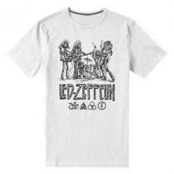 Мужская стрейчевая футболка Led-Zeppelin Art