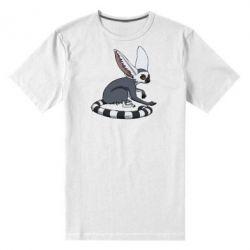 Мужская стрейчевая футболка Лемур - FatLine