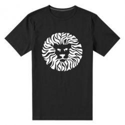 Мужская стрейчевая футболка лев - FatLine