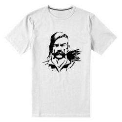 Мужская стрейчевая футболка Лице українського козака - FatLine