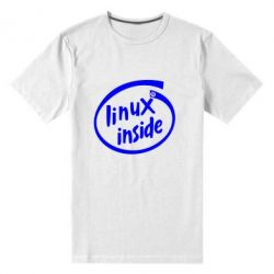 Мужская стрейчевая футболка Linux Inside - FatLine