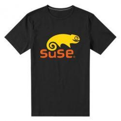 Мужская стрейчевая футболка Linux Suse - FatLine