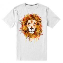 Мужская стрейчевая футболка Lion Art - FatLine
