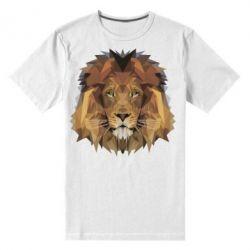 Мужская стрейчевая футболка Lion Poly Art
