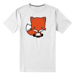 Мужская стрейчевая футболка Лиса - FatLine