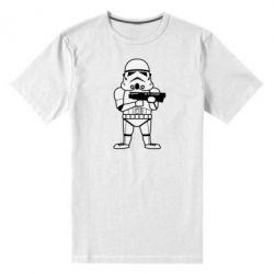 Мужская стрейчевая футболка Little Stormtrooper - FatLine