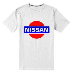 Мужская стрейчевая футболка Logo Nissan - FatLine