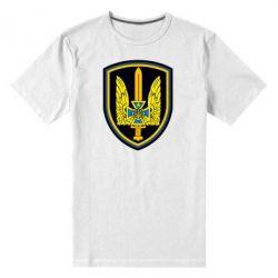 Мужская стрейчевая футболка Логотип Азов - FatLine