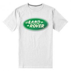 Мужская стрейчевая футболка Логотип Land Rover - FatLine