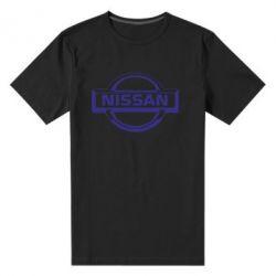 Мужская стрейчевая футболка логотип Nissan - FatLine