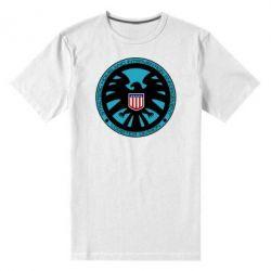 Мужская стрейчевая футболка Логотип Щита - FatLine