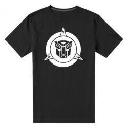 Мужская стрейчевая футболка Логотип Трансформеры