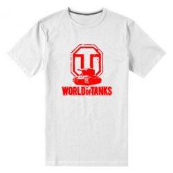 Мужская стрейчевая футболка Логотип World Of Tanks - FatLine