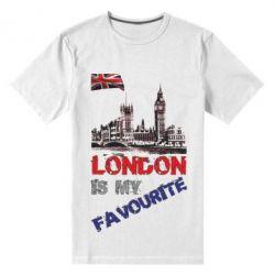 Купить Мужская стрейчевая футболка Лондон цветной, FatLine