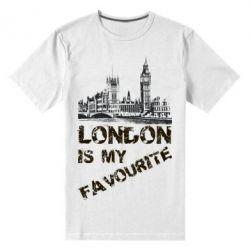 Купить Мужская стрейчевая футболка Лондон моноцвет, FatLine