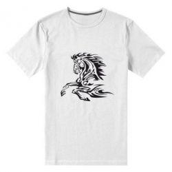 Мужская стрейчевая футболка Лошадь - FatLine