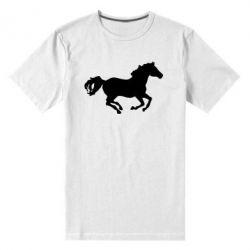 Мужская стрейчевая футболка Лошадка - FatLine
