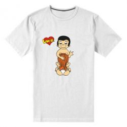 Мужская стрейчевая футболка Love is... Sex :)