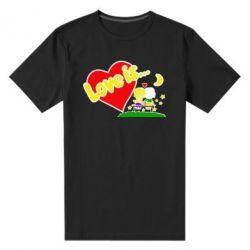 Мужская стрейчевая футболка Love is... - FatLine