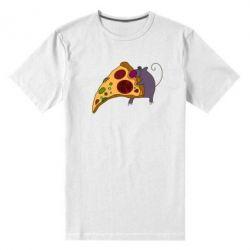Мужская стрейчевая футболка Love Pizza 2 - FatLine