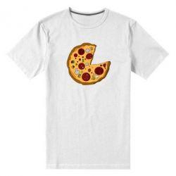 Мужская стрейчевая футболка Love Pizza - FatLine