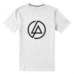 Мужская стрейчевая футболка LP logo - FatLine