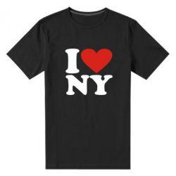 Мужская стрейчевая футболка Люблю Нью Йорк - FatLine