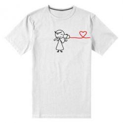 Мужская стрейчевая футболка Любовное послание 2