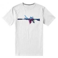 Мужская стрейчевая футболка M-16 Art - FatLine