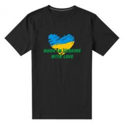 Мужская стрейчевая футболка Made in Ukraine with Love