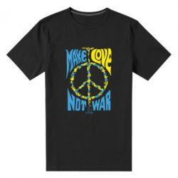 Мужская стрейчевая футболка Make love, not war - FatLine