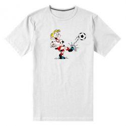 Мужская стрейчевая футболка Маленький футболист - FatLine