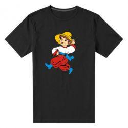 Мужская стрейчевая футболка Маленький українець - FatLine