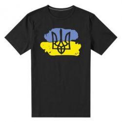 Мужская стрейчевая футболка Мальований прапор - FatLine