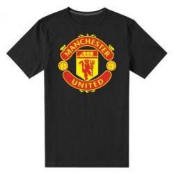 Мужская стрейчевая футболка Манчестер Юнайтед - FatLine