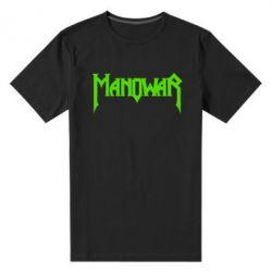 Мужская стрейчевая футболка Manowar - FatLine