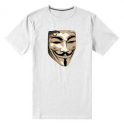 Мужская стрейчевая футболка Маска Вендетта - FatLine