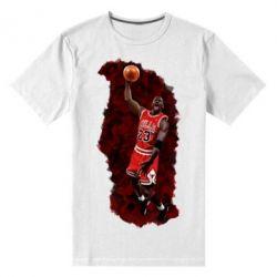Мужская стрейчевая футболка Майкл Джордан - FatLine