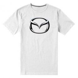Мужская стрейчевая футболка Mazda 3D Logo - FatLine