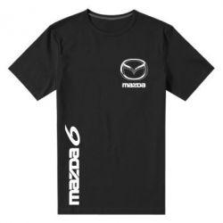 Мужская стрейчевая футболка Mazda 6 vert - FatLine